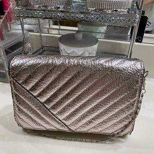 Zara Metallic Pink Bag